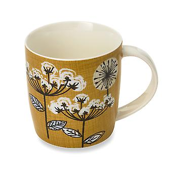 Cooksmart Retro Meadow Barrel Mug, Yellow