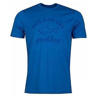 Paul And Shark Large Tonal Logo Crew Neck T-Shirt
