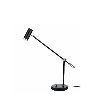 Lámpara de mesa de luz 1 Matt Black