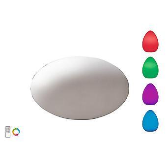 Soikea pöytävalaisin induktio LED RGB ulkouima IP65, 120lm, Opaali valkoinen