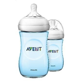 Avent Natural Suction Bottle 2.0 260ml Duo Blue