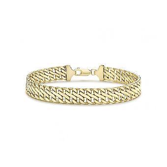 Eternity 9ct Gold Double Flat Curb Bracelet