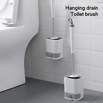 Porta teste spazzola wc bagno con manico portaosti, bagno setole morbide