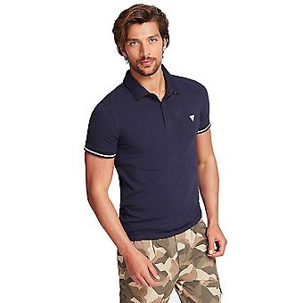 Guess Stretch Baumwolle Herren Polo Shirt - Marine