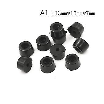 10db fekete 5 méretű gumi asztal szék bútor láb láb párna csempe padló