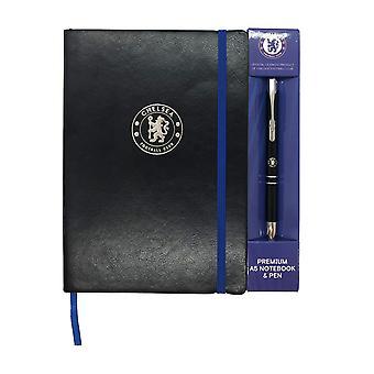 Chelsea FC Notebook & Pen A5 Executive Premium VIRALLINEN Jalkapallo lahja