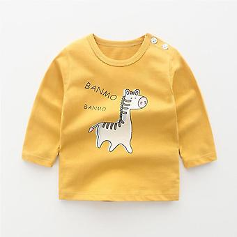 New Winter Baby T-shirt Whale Long Sleeve Cotton Clothing Hug Tops Infant Baby