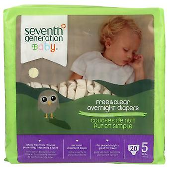 Seventh Generation Baby Overnight Diapers, Stage 5, 20 CT(case of 4)