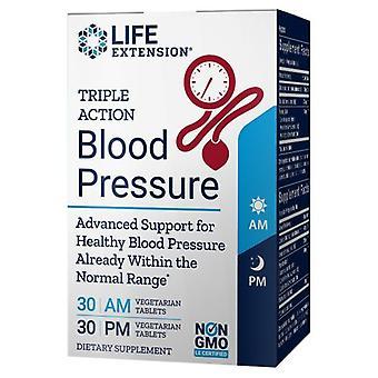 تمديد الحياة الثلاثية ضغط الدم العمل، 60 علامات التبويب