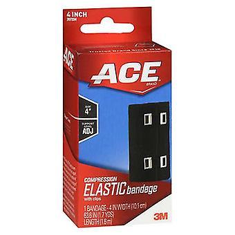 3M Ace Kompression Elastiskt bandage med clips 4 Tum, 1 varje