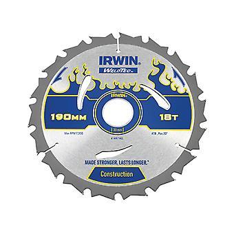 IRWIN Weldtec rundsavsblad 190 x 30mm x 18T ATB IRW1897382