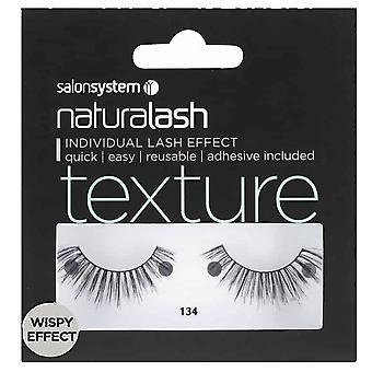 Salon System  Naturalash - Texture - No 134 Reusable Eyelashes - (adhesive Included)