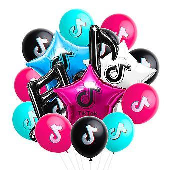 بالونات الحزب 35pcs - Tik موضوع توك الموسيقى ملاحظة بالونات، حفلة عيد ميلاد