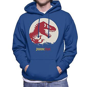 Jurassic Park T Rex Red Skeleton Icon Men's Hooded Sweatshirt