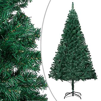 vidaXL Artificial Christmas tree with thick branches Green 240 cm PVC