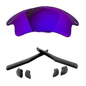 Polarized Replacement Lenses Kit for Oakley Fast Jacket XL Purple Mirror Black Anti-Scratch Anti-Glare UV400 SeekOptics