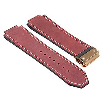 Strapsco dassari-vintage-leather-strap-for-hublot-big-bang-with-yellow-gold-clasp
