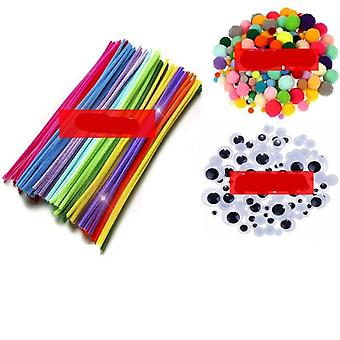 Plush Math Counting Education Stick, Wool Pompoms Materials For Puzzles Toy