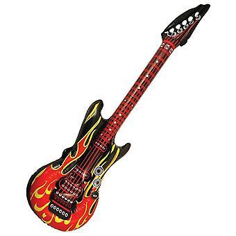 Aufblasbare 106cm Rock Gitarre Flamme Design ausgefallenes Kleid