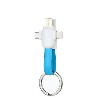 3 in 1 Key Chain Charging Cable Sync Magnetic Data Cable Mini Portable Mobile Phone Charger