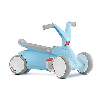 BERG blue gO2 2 in 1 push and pedal go kart
