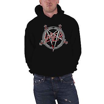 Slayer Pentagram Logo Official Mens New Black Pullover Hoodie