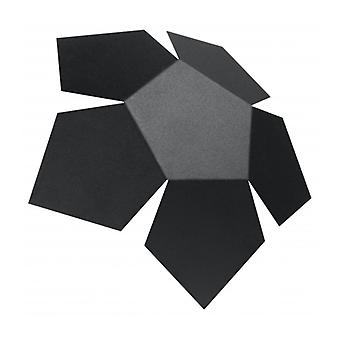 Penta 2-lys sort stål væg lys