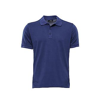 Polo Kragen T-shirt marineblau