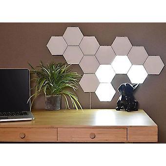 Diy seinälamppu kosketuskytkin kvanttilamppu led kuusikulmaiset lamput modulaarinen luova