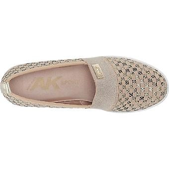 Anne Klein Womens Yourock Fabric Closed Toe Slide Flats
