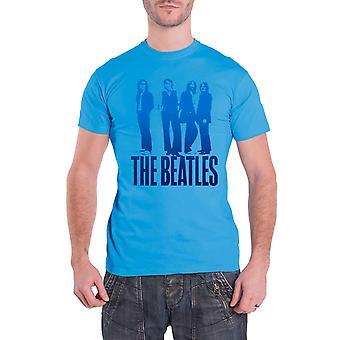 Beatles T Shirt Blue Groove ikoninen kuva bändi logo virallinen Mens