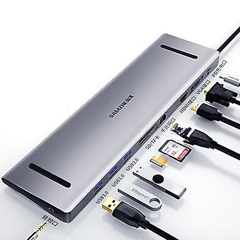 Usb C Hub Multi Usb 3.0 Hdmi Adapter