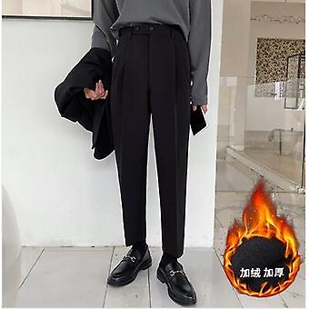 Men's Straight Casual Western Trouser Thicken Suit Pants