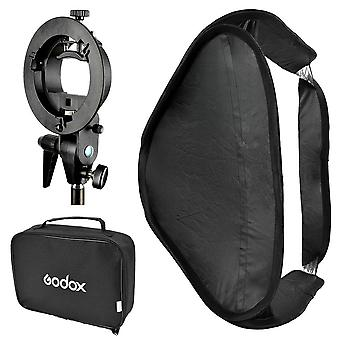 Godox sfuv6060 draagbare montage opvouwbare diffuser softbox kit met s-type bowens flash bracket f