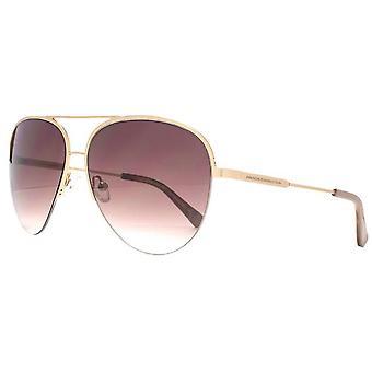 Französisch Anschluss Premium Metall D-Frame Sonnenbrille - Matt Light Gold