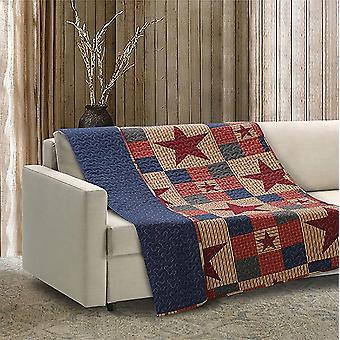 Spura Home Mountain Cabin Gray Quilted Throw Blanket sofa Bed