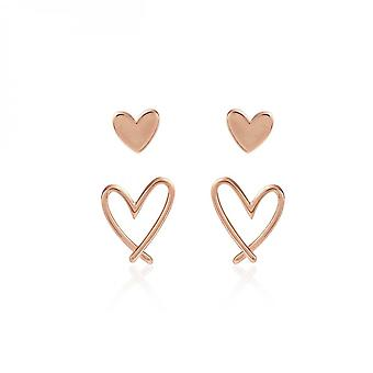 Joma Jewellery Florrie Gold Heart Stud Earrings 3938