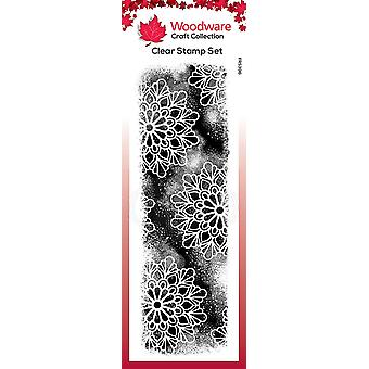 Woodware Clear Singles Cosmic Background 8 in x 2.6 in stamp