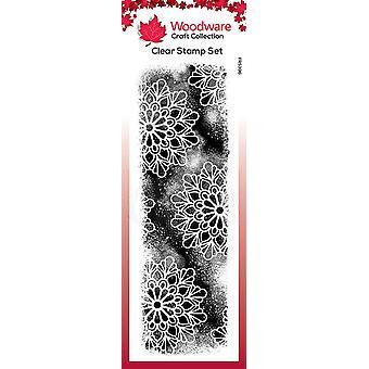Woodware Clear Singles Kosminen tausta 8 x 2.6:ssa leimana