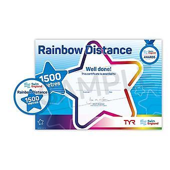 ASA zwemmen Engeland Rainbow afstand zwemmen Award - 1500M