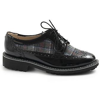 Svart Sangiorgio svart läder Lace-up Sko