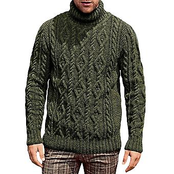 Allthemen Men's Slim Fit Turtleneck Sweater Casual Knited Pullover Solid Sweaters