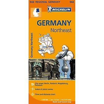 Germany Northeast Regional Map 542 (Michelin Regional Maps)