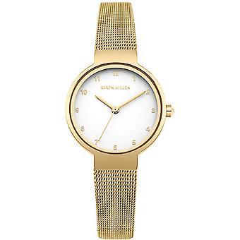 Karen Millen KM160GM Watch - Women's Dor e Maille Watch