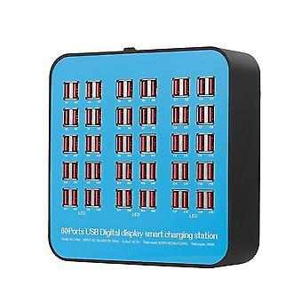 Inteligentna stacja ładująca z 60 portami usb dock uniwersalna kompatybilność do użytku rodzinnego i biurowego