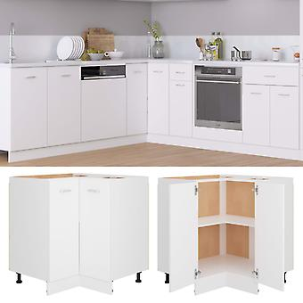 Corner Bottom Cabinet White 75.5x75.5x80.5 Cm Chipboard