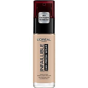 L'Oreal Paris Make Up Base de Maquillaje Infalible 24H Fresh Wear Tono 110 Vanille Rose