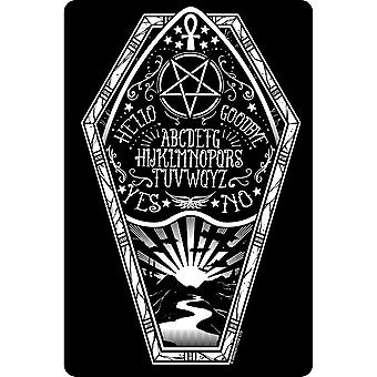 Tervehdi tin-korttia Ouija Coffin Plaque