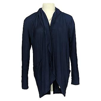 Lisa Rinna Collection Women's Sweater Cocoon Cardigan Blue A309112