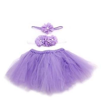 Baby Toddler Flower Clothes+hairband+tutu Skirt